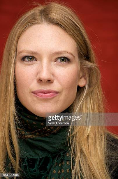 Anna Torv attends the Fringe press conference at the Waldorf Astoria Hotel on October 4 2008 in New York City