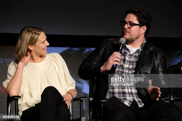 Anna Torv Cameron Britton attends Netflix's 'Mindhunter' FYC Event at Netflix FYSEE At Raleigh Studios on June 1 2018 in Los Angeles California