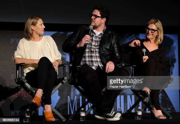 Anna Torv Cameron Britton Laray Mayfield attends Netflix's 'Mindhunter' FYC Event at Netflix FYSEE At Raleigh Studios on June 1 2018 in Los Angeles...
