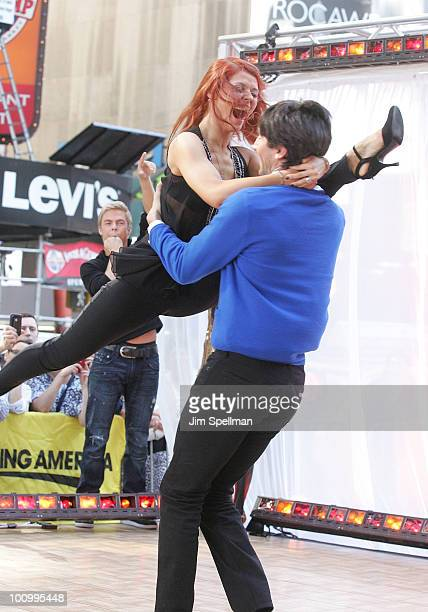 Anna Trebunskaya and Evan Lysacek visit ABC's 'Good Morning America' at ABC Studios on May 26 2010 in New York City