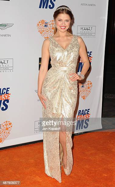 Anna Trebunskaya arrives at the 21st Annual Race To Erase MS Gala at the Hyatt Regency Century Plaza on May 2, 2014 in Century City, California.