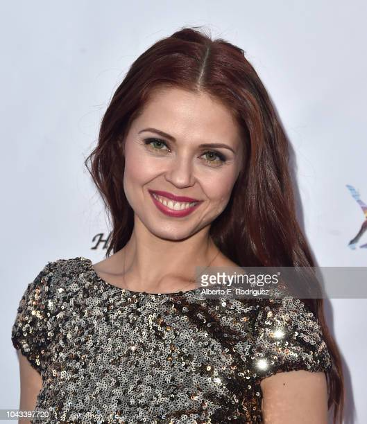 Anna Trebunskaya attends the RIDE Foundation's 2nd Annual Dance For Freedon at gala The Broad Stage on September 29 2018 in Santa Monica California