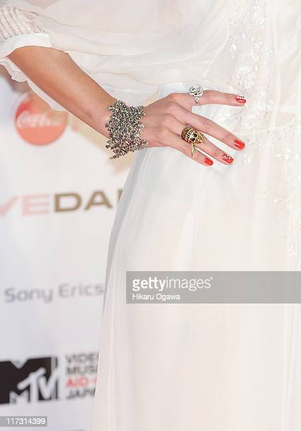 Anna Tsuchiya walks on the red carpet during the MTV Video Music Aid Japan on June 25 2011 in Chiba Japan