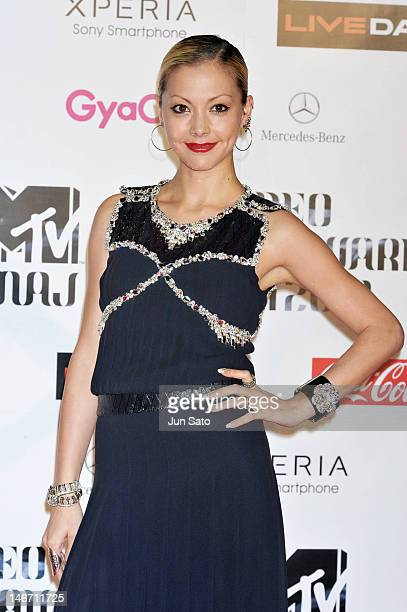 Anna Tsuchiya walks on the red carpet of the MTV Video Music Awards Japan 2012 at Makuhari Messe on June 23 2012 in Chiba Japan