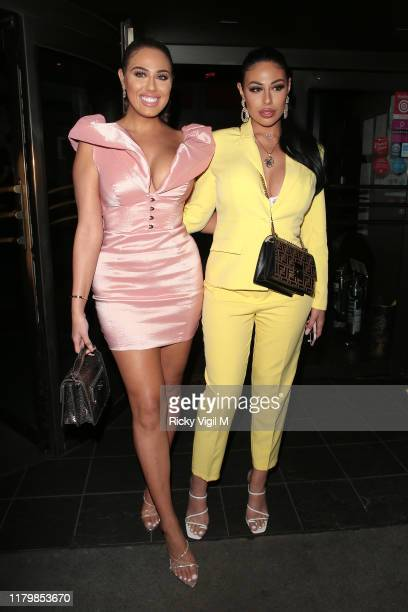 Anna Vakili and Mandi Vakili seen attending Simmi Shoes collection launch party at Buddha Bar London on October 08 2019 in London England