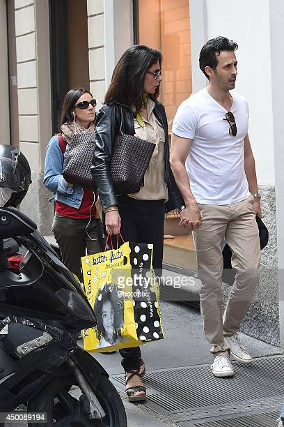 Anna Valle and Ulisse Lendaro are seen on June 4 2014 in Milan Italy