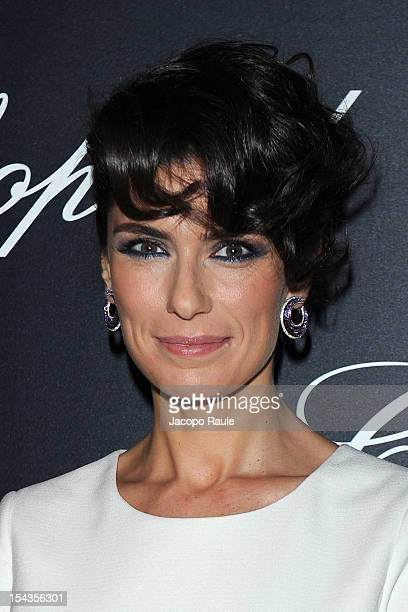 Anna Valle attends Chopard Store Opening on October 18 2012 in Milan Italy