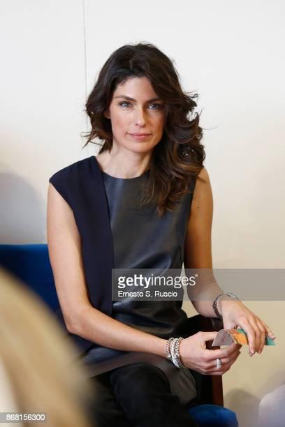 Anna Valle attends 'L'Eta' Imperfetta' press conference during the 12th Rome Film Fest at Auditorium Parco Della Musica on October 30 2017 in Rome...