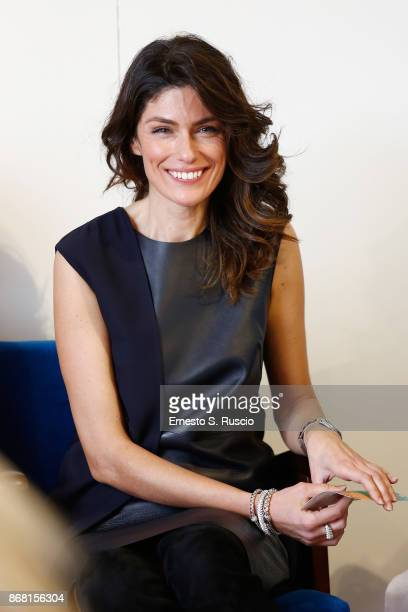 Anna Valle attends 'L'Eta' Imperfetta' press conference during the 12th Rome Film Fest at Auditorium Parco Della Musica on October 30 2017 in Rome...