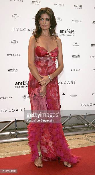 Anna Valle attends the amFAR Venice Benefit Evening at the Fondazione Giorgio Cini during the 61st Venice Film Festival on September 3 2004 in Venice...