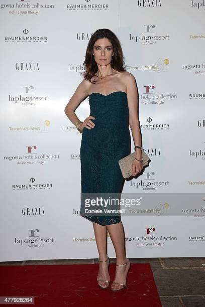 Anna Valle attends the Baume Mercier and Grazia Gala Dinner 61st Taormina Film Fest on June 20 2015 in Taormina Italy