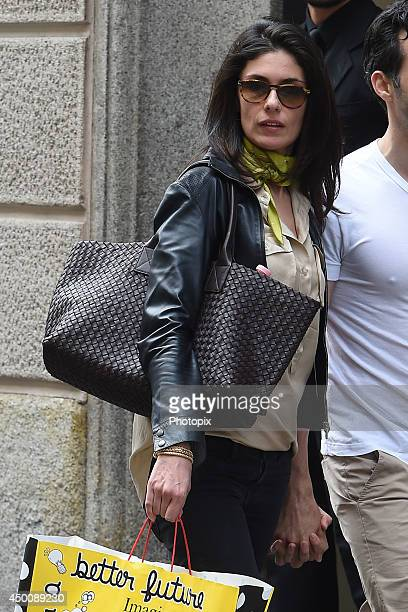 Anna Valle is seen on June 4 2014 in Milan Italy