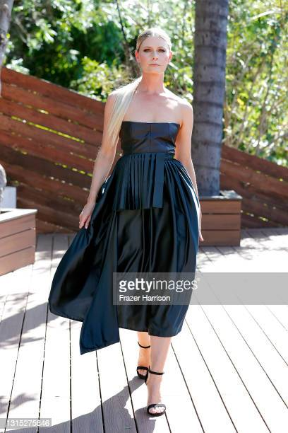 Anna Vallefuoco attends the Jonathan Marc Stein Autumn/Winter 2021 virtual show debut filming on April 29, 2021 in Studio City, California.