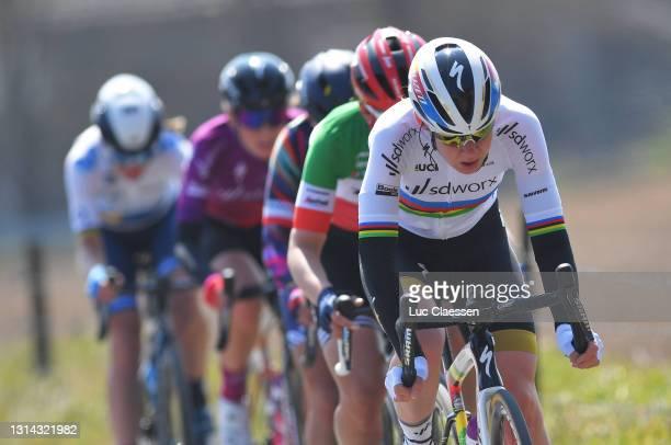 Anna Van Der Breggen of Netherlands and Team SD Worx during the 5th Liege - Bastogne - Liege 2021, Women's Elite a 140,9km race from Bastogne to...