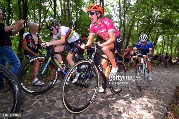 Anna Van Der Breggen of The Netherlanda and Boels Dolmans Cycling Team / Marianne Vos of The Netherlands and Team CCC - Liv Cyclamen Points Jersey /...