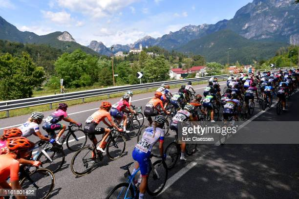 Anna Van Der Breggen of The Netherlanda and Boels Dolmans Cycling Team / Victorie Guilman of France and Team FDJ Nouvelle Aquitaine Futuroscope /...