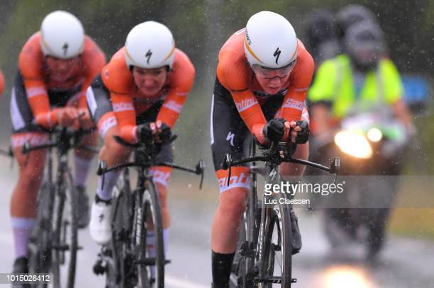 Anna Van Der Breggen of The Netherlands and Team Boels Dolmans Cycling Team / during the 11th Open de Suede Vargarda 2018 a 425km Women's Team Time...