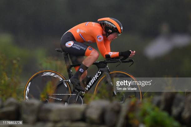 Anna Van Der Breggen of The Netherlands / during the 92nd UCI Road World Championships 2019 Women Elite Individual Time Trial a 303km Individual Time...