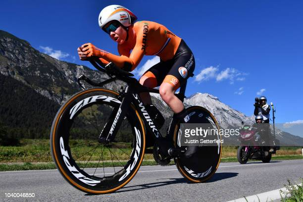 Anna Van Der Breggen of The Netherlands / during the Women Elite Individual Time Trial a 27,8km race from Wattens to Innsbruck 582m at the 91st UCI...