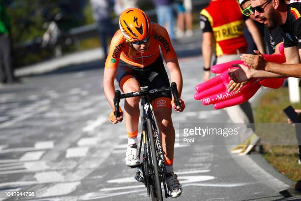 Anna Van Der Breggen of The Netherlands / Fans / Public / during the Women Elite Road Race a 1562km race from Kufstein to Innsbruck 582m at the 91st...