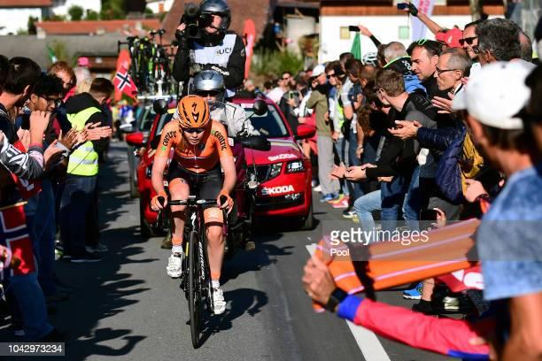 Anna Van Der Breggen of The Netherlands / Fans / Public / during the Women Elite Road Race a 156,2km race from Kufstein to Innsbruck 582m at the 91st...