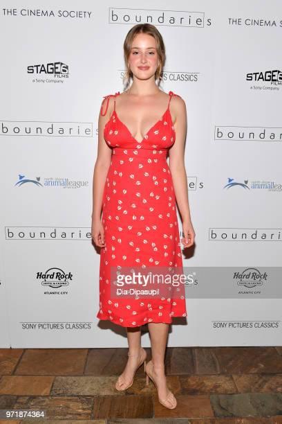 "Anna Van Patten attends the ""Boundaries"" New York screening at The Roxy Cinema on June 11, 2018 in New York City."