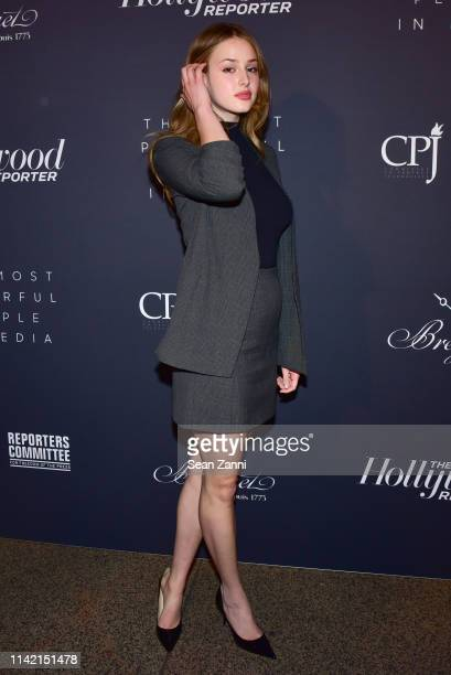 Anna Van Patten attends The Hollywood Reporter Celebrates The Most Powerful People In Media at The Pool on April 11 2019 in New York City