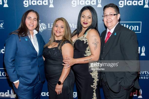 Anna Vasquez Elizabeth Ramirez Cassandra Rivera and Kristie Mayhugh attend the 28th Annual GLAAD Awards at New York Hilton Midtown on May 6 2017 in...