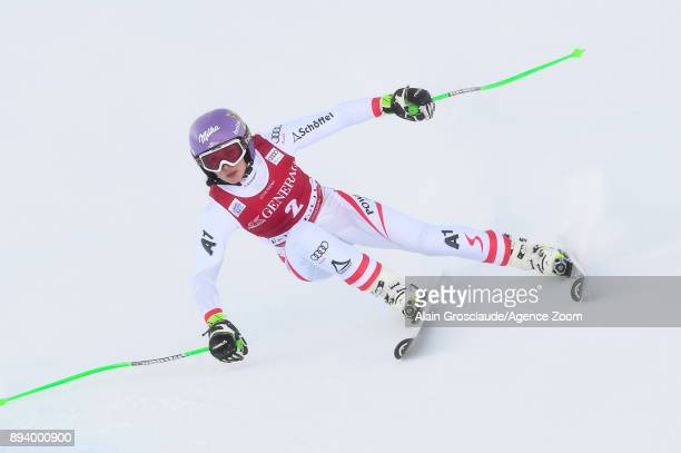 Anna Veith of Austria competes during the Audi FIS Alpine Ski World Cup Women's Super G on December 17 2017 in Vald'Isere France