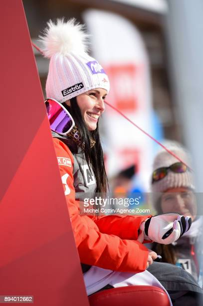 Anna Veith of Austria takes 1st place during the Audi FIS Alpine Ski World Cup Women's Super G on December 17 2017 in Vald'Isere France