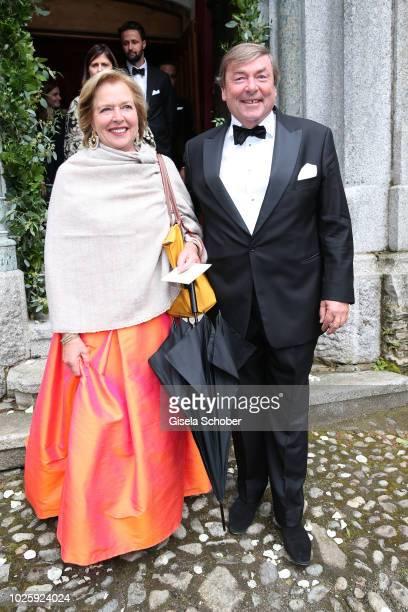 Anna Veltheim and husband Nikolaus Veltheim during the wedding of Prince Konstantin of Bavaria and Princess Deniz of Bavaria born Kaya at the french...