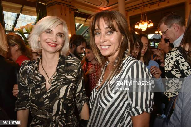 Anna Veronique El Baze and Severine Servat de Rugy attend 'L'Ete Litteraire Des Deux Magots ' Book Signing Cocktail at Les Deux Magots Cafe on June...