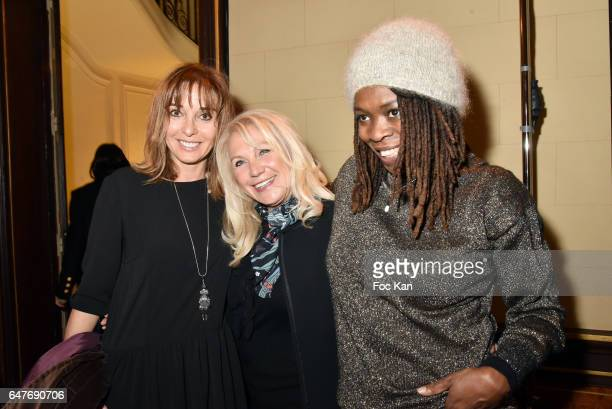 Anna Veronique El Baze Martine Vidal and singer Princess Erika attend the Ingie show as part of the Paris Fashion Week Womenswear Fall/Winter...