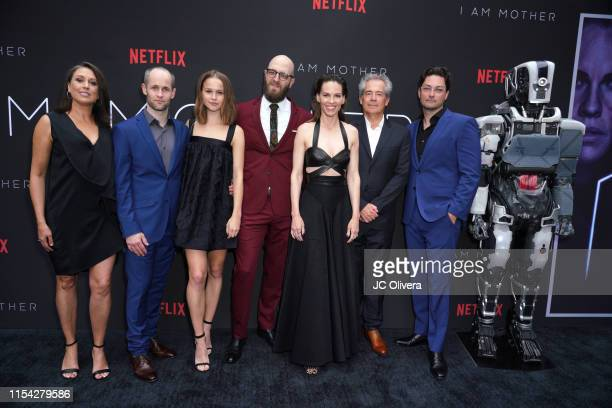 Anna Vincent Luke Hawker Clara Rugaard Grant Sputore Hilary Swank Timothy White and Michael Lloyd Green attend the LA Special Screening Of Netflix's...