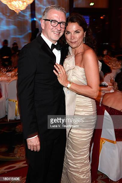 Anna von Griesheim and Andreas Marx attend the Dreamball 2013 charity gala at Ritz Carlton on September 12 2013 in Berlin Germany