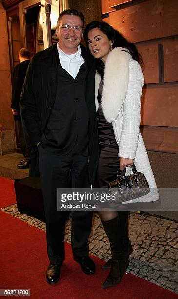 Anna von Griesheim and Andreas Marx attend the People' s Night party of the 56th annual International Film Festival at Borchardt restaurant on...