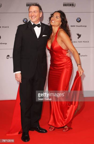 Anna von Griesheim and Andreas Marx during 7th Annual Cinema For Peace Gala sponsored by BMW CleanEnergy as part of the 58th Berlinale International...