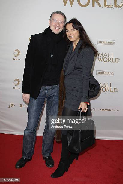 Anna von Griesheim and her husband Andreas Marx attend the 'Small World' premiere at Cinema Paris on December 1 2010 in Berlin Germany