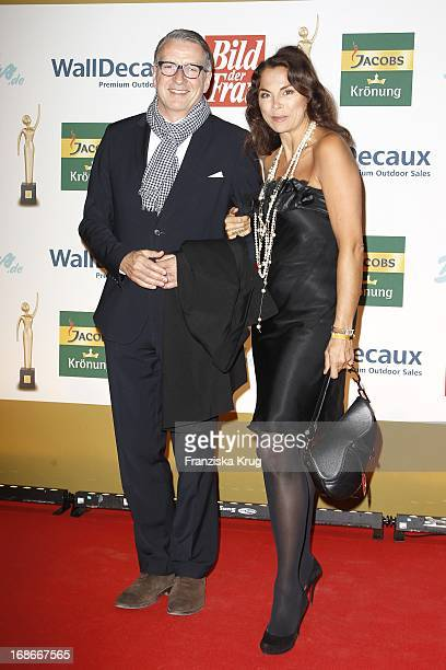 Anna Von Griesheim and husband Erich Marx at the ceremony The Golden 'Bild Der Frau' Awards In UllsteinHalle in Berlin
