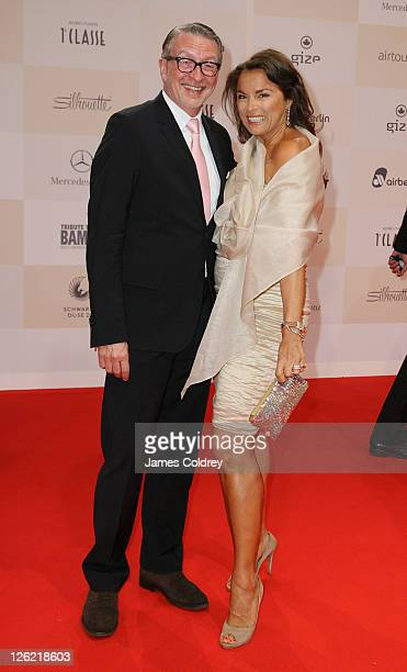 Anna von Griesheim and partner Andreas Marx attend Tribute to Bambi 2011 at the Station on September 23 2011 in Berlin Germany