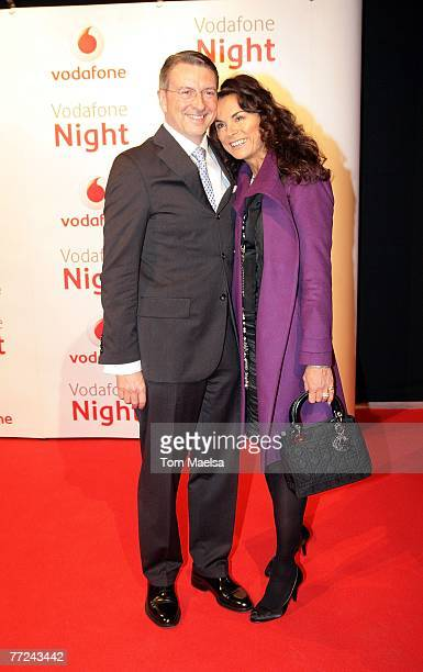 Anna von Griesheim and Richard Marx attend the Vodafone Night October 09 2007 in Berlin Germany