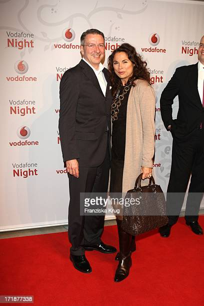 Anna Von Griesheim designer and friend Andreas Marx at the 'Vodafone Night' At Hotel De Rome In Berlin