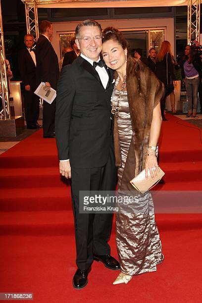 Anna Von Griesheim designer and husband Andreas Marx at the 90th birthday of Artur Brauner In Berlin On 130908