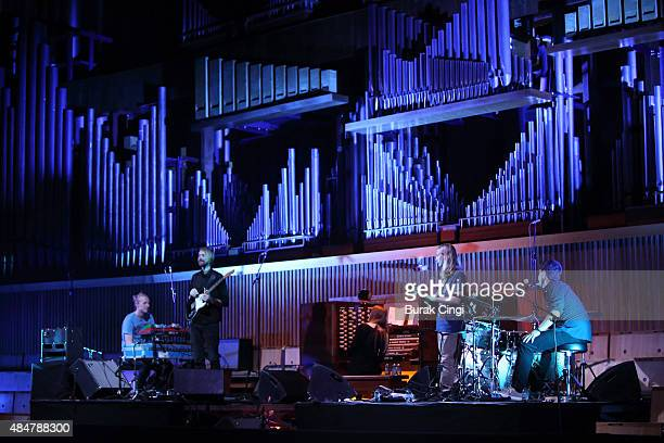Anna Von Hausswolff performs live on stage at the Royal Festival Hall on August 21 2015 in London England
