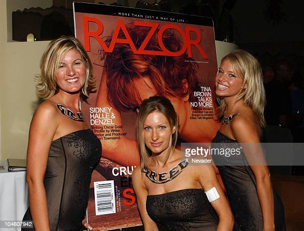 Anna Wade Julie Jones and Sarah Kirsch during Razor Magazine's Summer of Swagger Party Seven Deadly Sins at Razor Lounge in Scottsdale Arizona United...