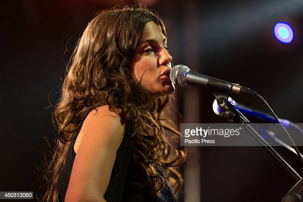 Anna Wappel also known as Anna F performs a live concert at Hiroshima Mon Amour in Turin Italy She is an Austrian pop singer who become famous with...