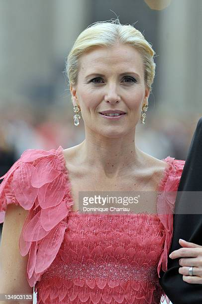 Anna Westling Blom attends the wedding of Crown Princess Victoria of Sweden and Daniel Westling on June 19 2010 in Stockholm Sweden