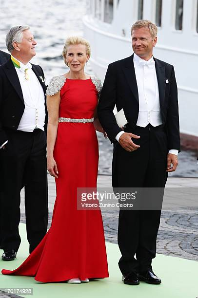 Anna Westling Soderstrom and Mikael Soderstrom attend the wedding of Princess Madeleine of Sweden and Christopher O'Neill hosted by King Carl Gustaf...