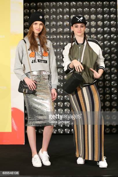 Anna Wilken and Alessia Stenti wearing an outfit by KONEN during the KONEN Urban Summer Show on February 15 2017 in Munich Germany