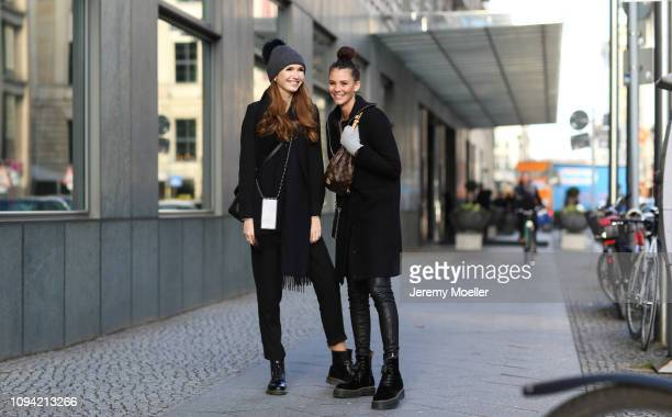 Anna Wilken and Betty Taube during the Berlin Fashion Week Autumn/Winter 2019 on January 14 2019 in Berlin Germany